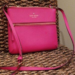Kate Spade Pink Leather Crossbody EUC